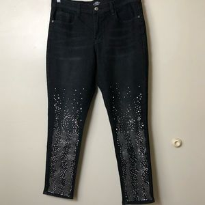 Venus Brand Black Studded Jeans Size 12